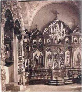 Церковь преподобного Павла Обнорского. Усыпальница с левой стороны. Фото конца 19 века